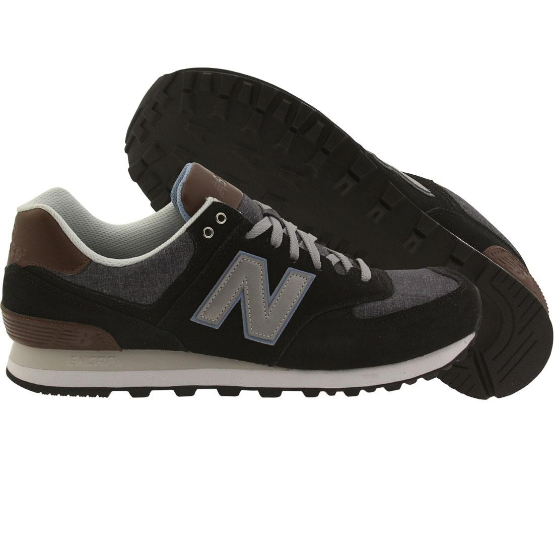 black and brown new balance