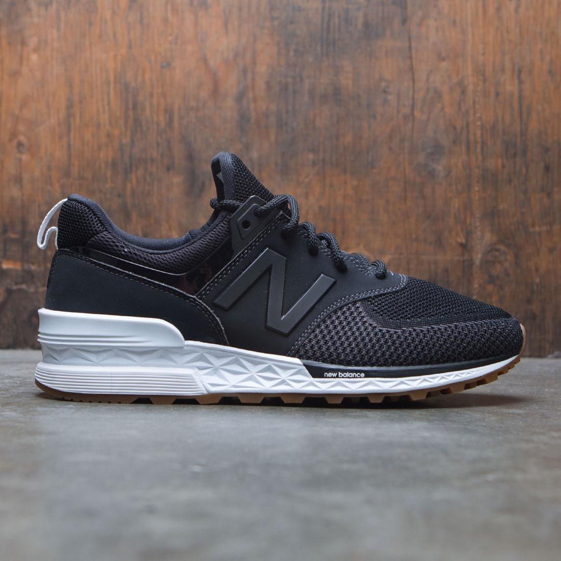 new balance 574 sport black grey