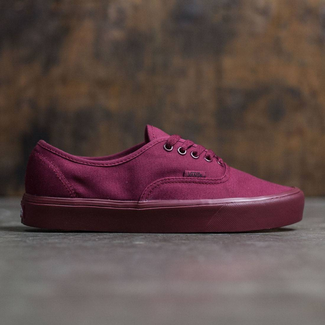 vans authentic skate shoe burgundy monochrome
