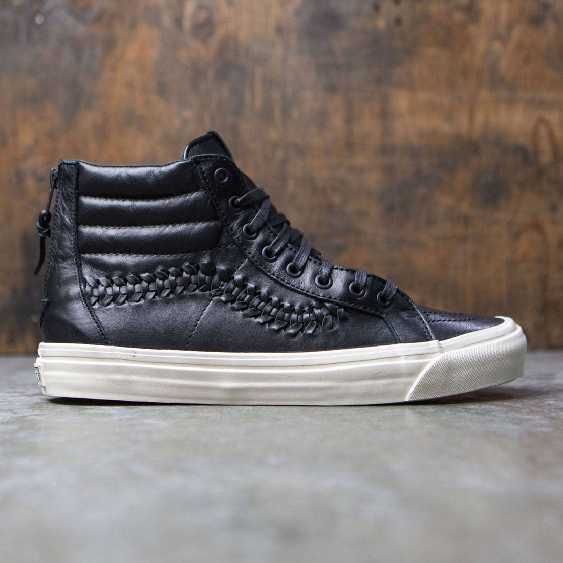 vans leather black