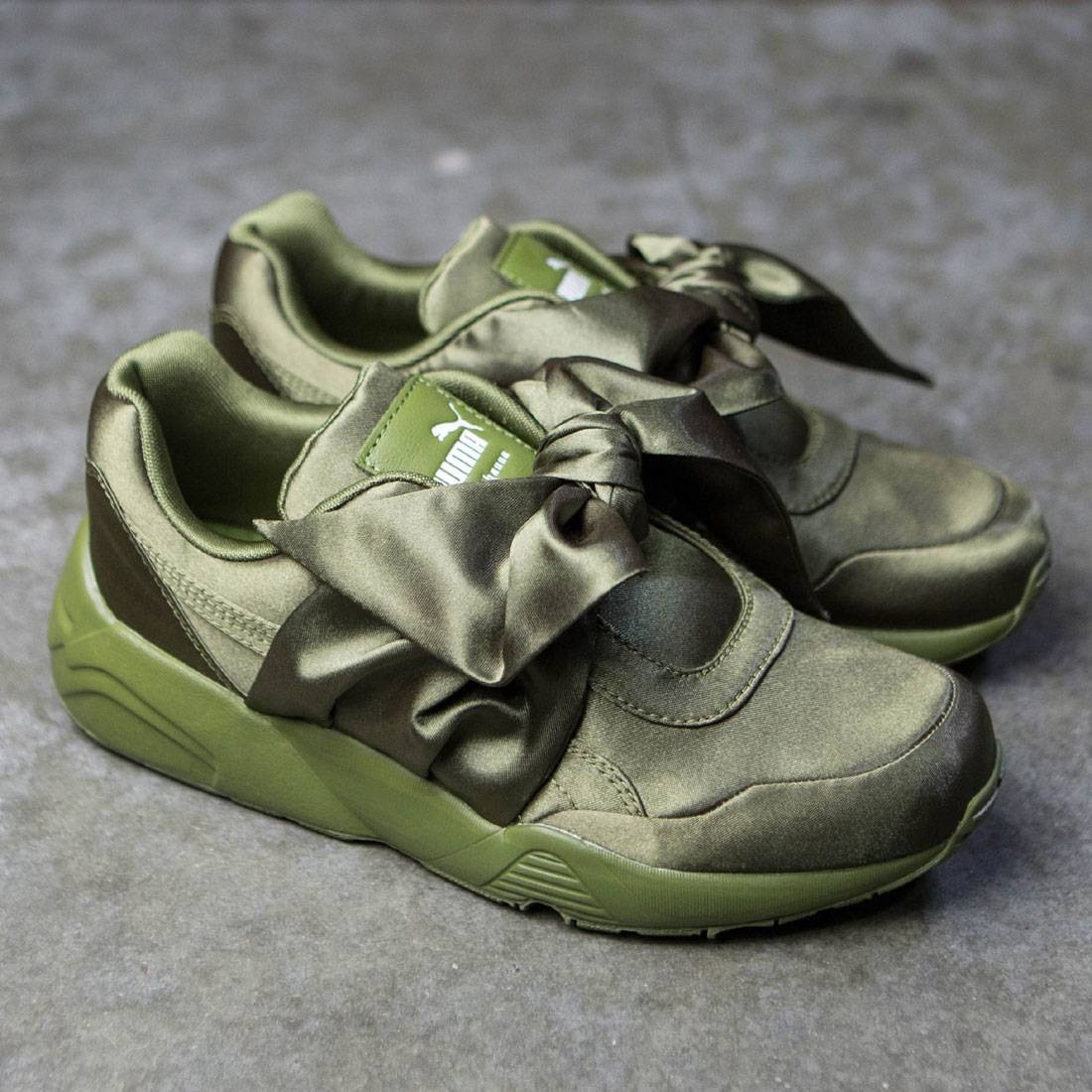 9898daf7a483d4 womens fenty puma by rihanna bow sneakers olive branch olive branch ...