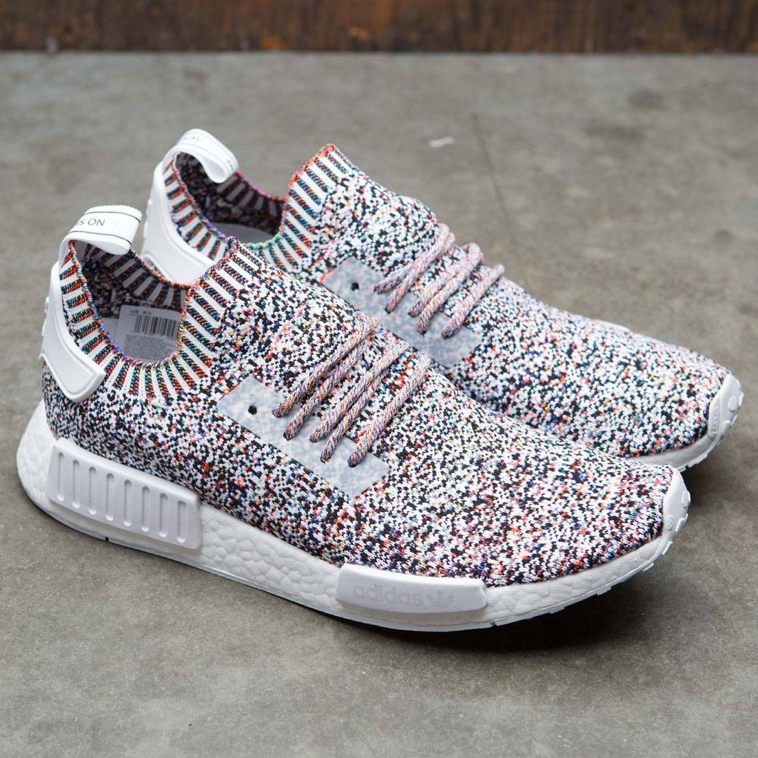 615b15f96 Adidas NMD R1 Prime Knit  Tri Color  black   white   red   blue (10.5)
