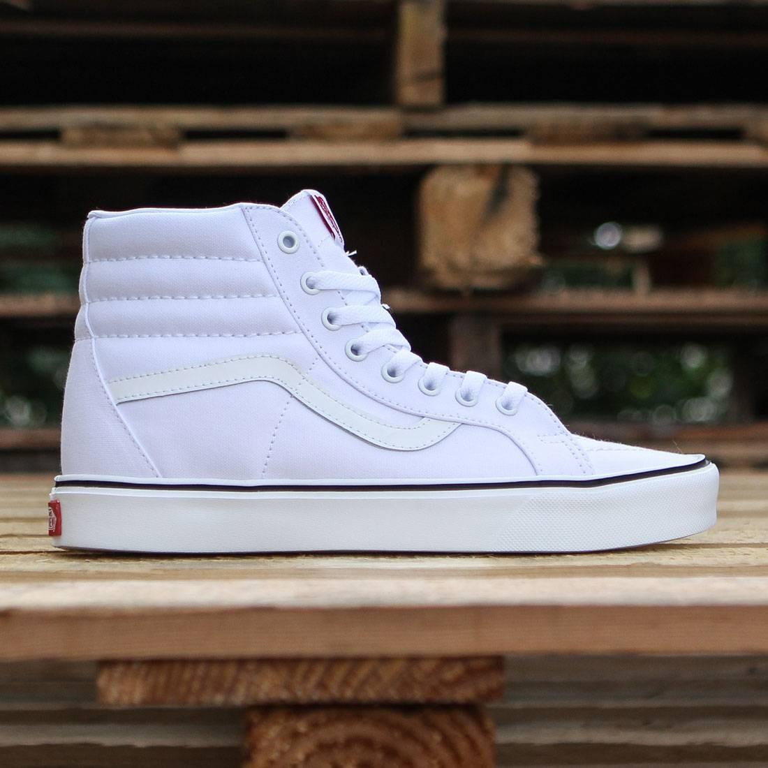 all white vans sk8 hi