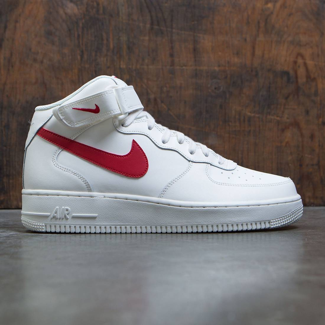nike men air force 1 mid 07 sail university red. Black Bedroom Furniture Sets. Home Design Ideas
