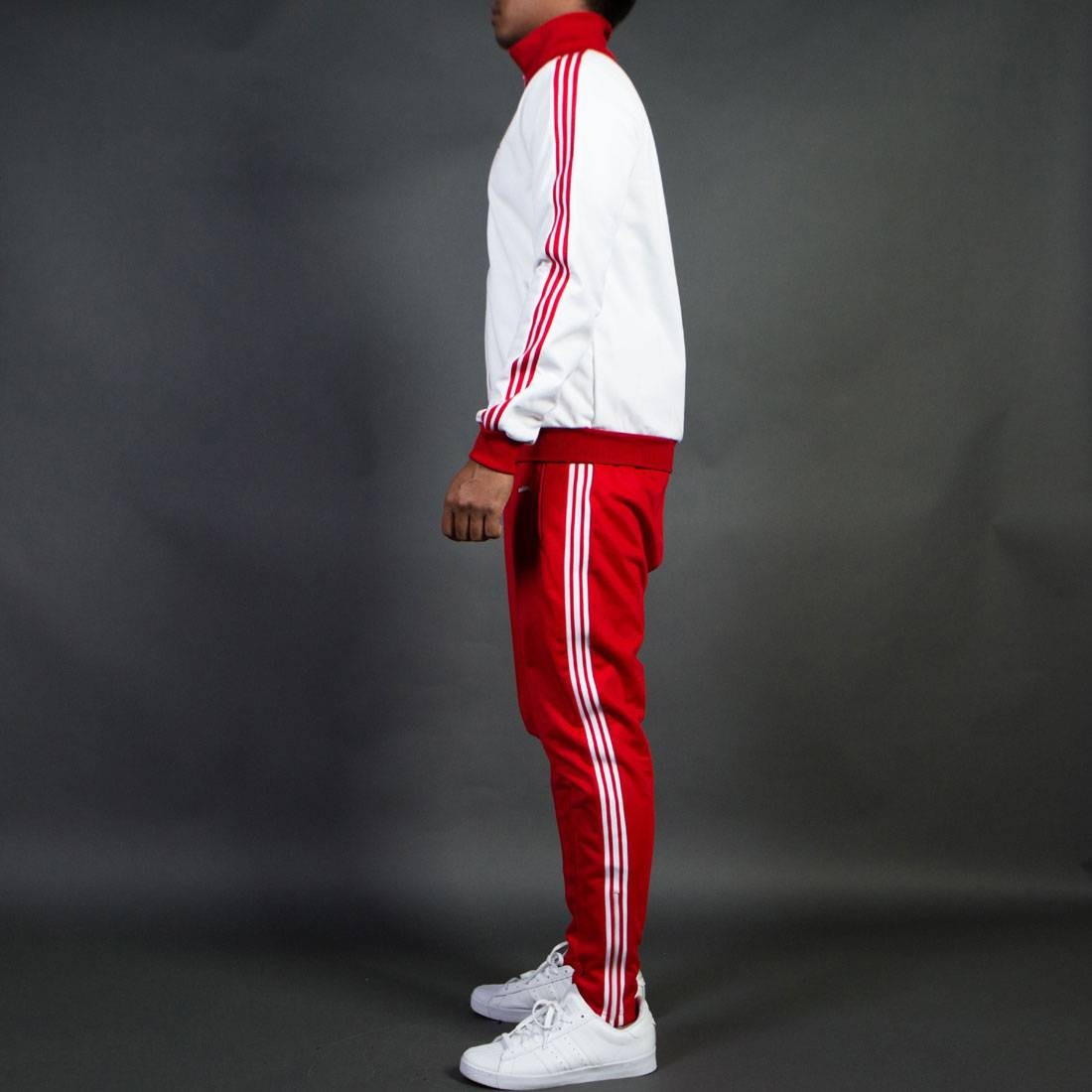 adidas men the bechenbauer tracksuit made in germany white. Black Bedroom Furniture Sets. Home Design Ideas