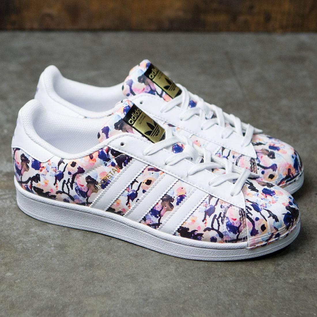 buy popular 29384 5e151 ... Adidas Big Kids Superstar (multi haze coral footwear white dust purple)  ...