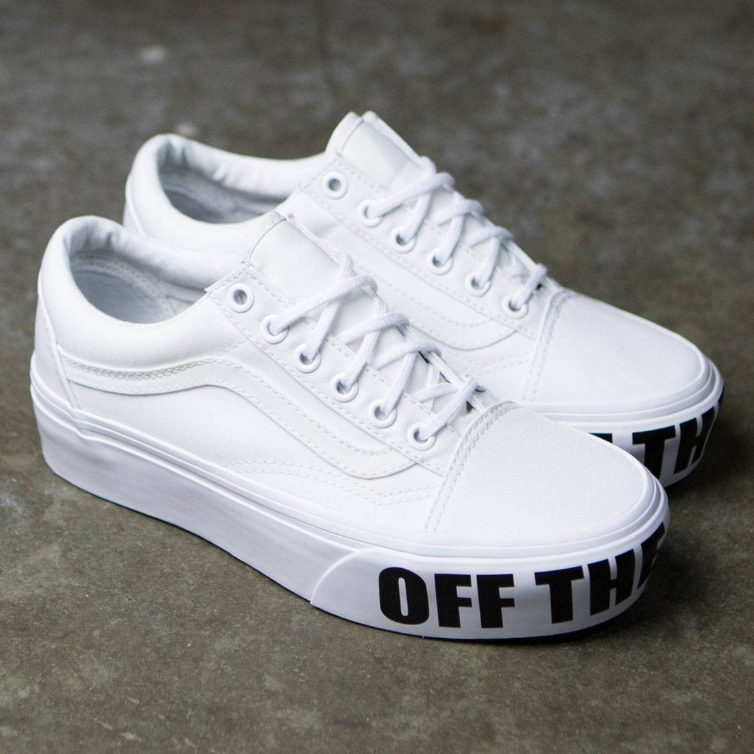 Vans Women Old Skool Platform White True White