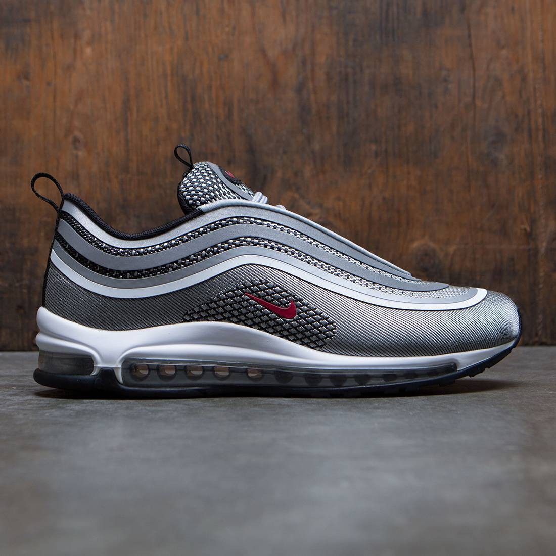 Nike Air Max 97 Ultra Trainers Silver Red Black Hers