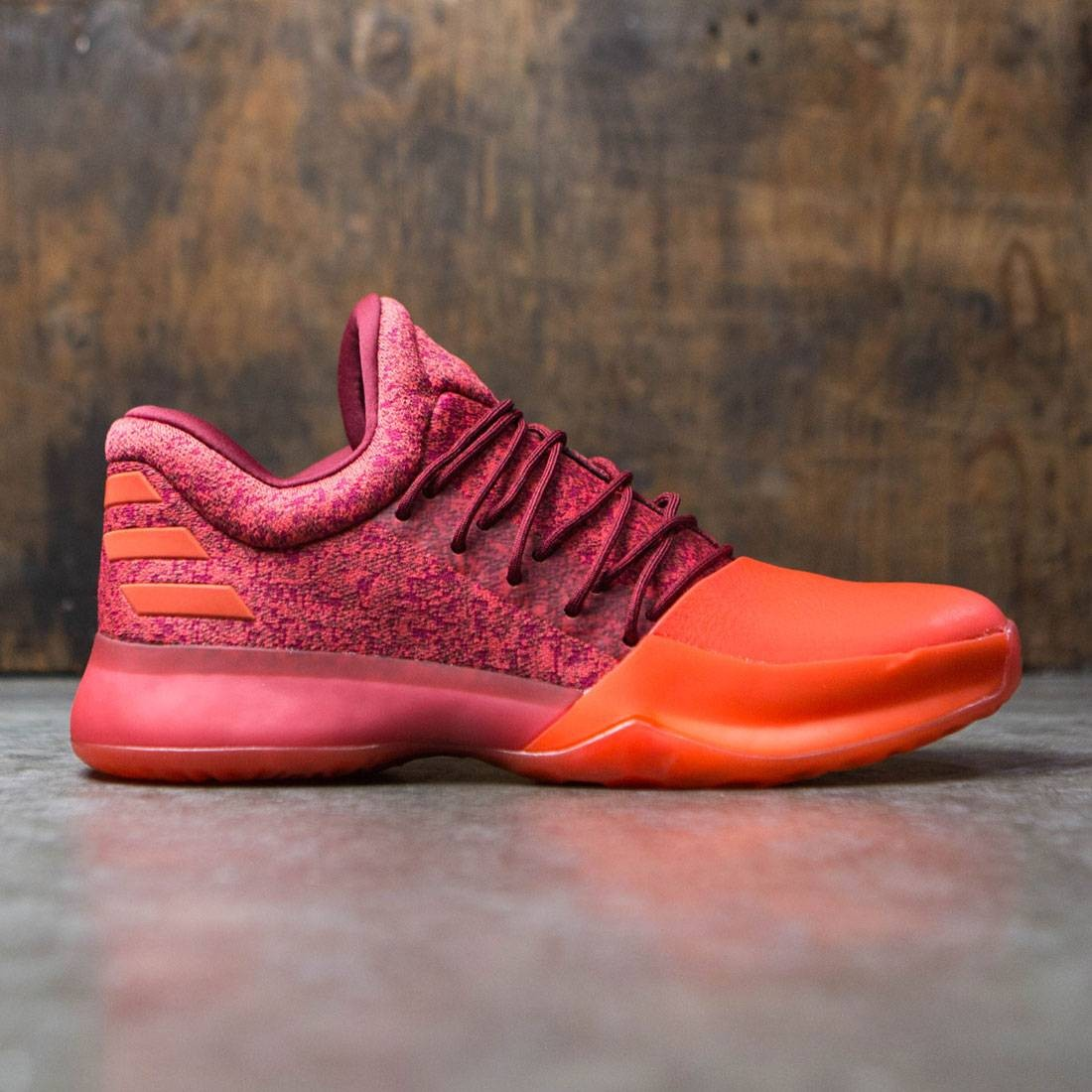 Adidas Men Harden Vol 1 Burgundy Scarlet Energy