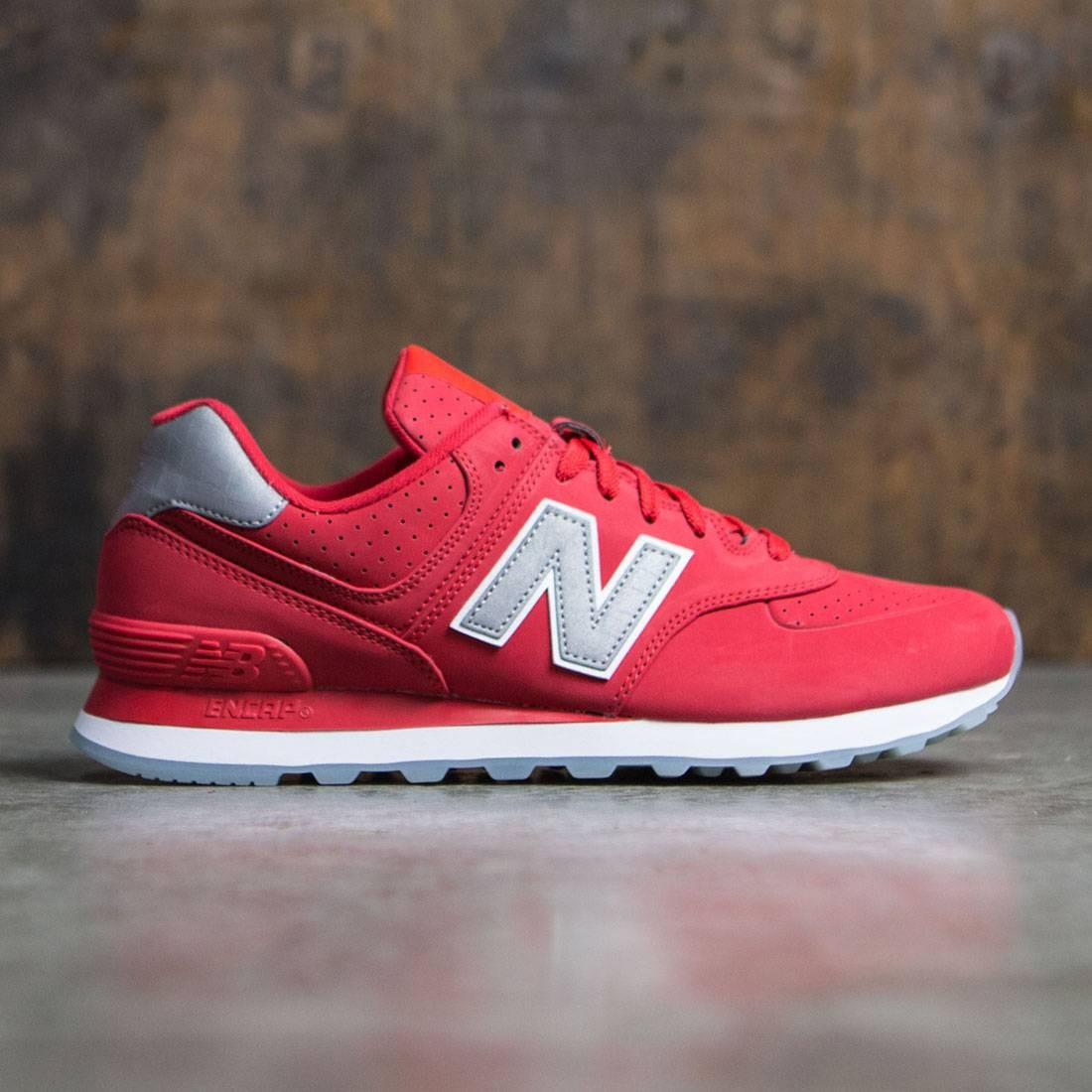 New Balance Men 574 Synthetic Ml574syd Red