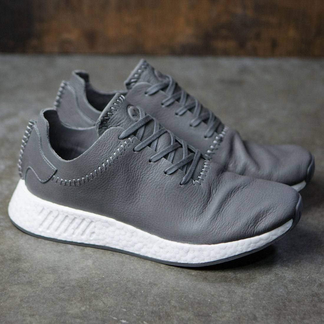 762a3f1eb ... Adidas x Wings + Horns Men NMD R2 Leather (gray ash off white) ...