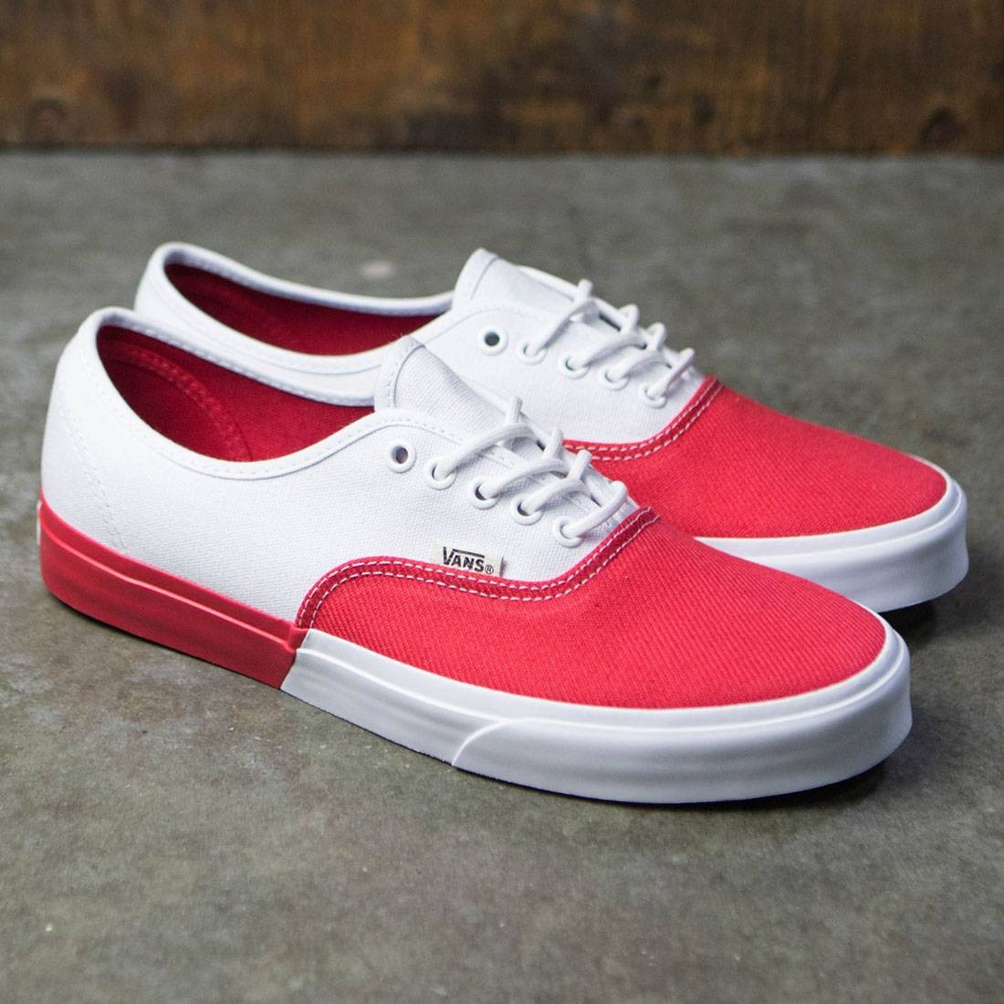 Vans Men Authentic Dx Blocked White Red