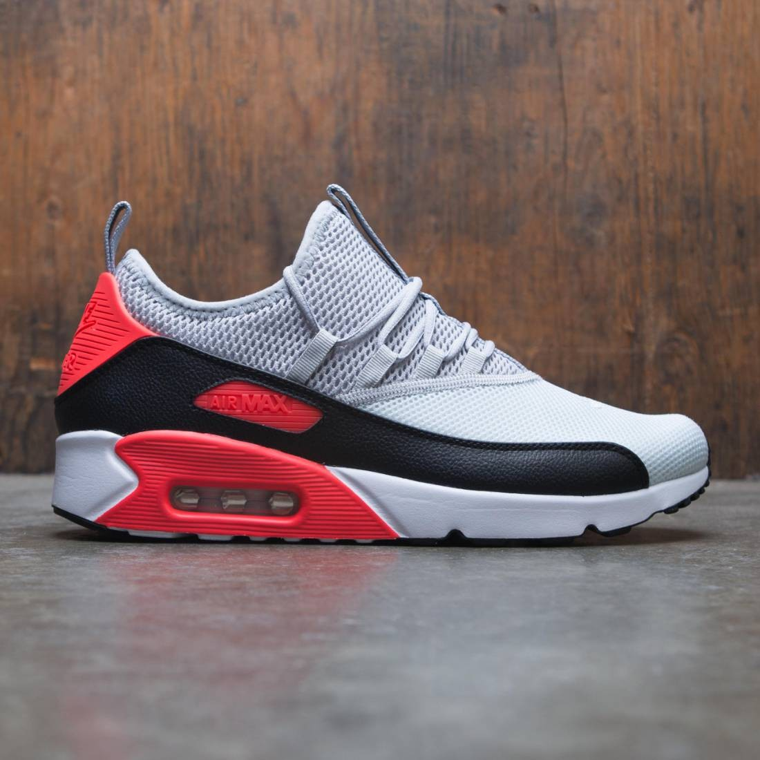 Nike Air Max 90 EZ Pure Platinum Wolf Grey Bright Crimson