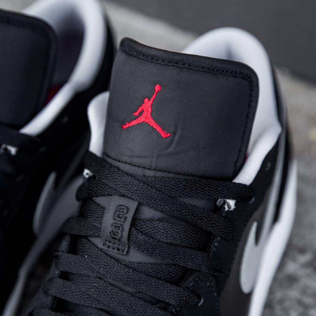 get cheap d47b3 bb264 ... Air Jordan 1 Low Men (black wolf grey white gym red) ...