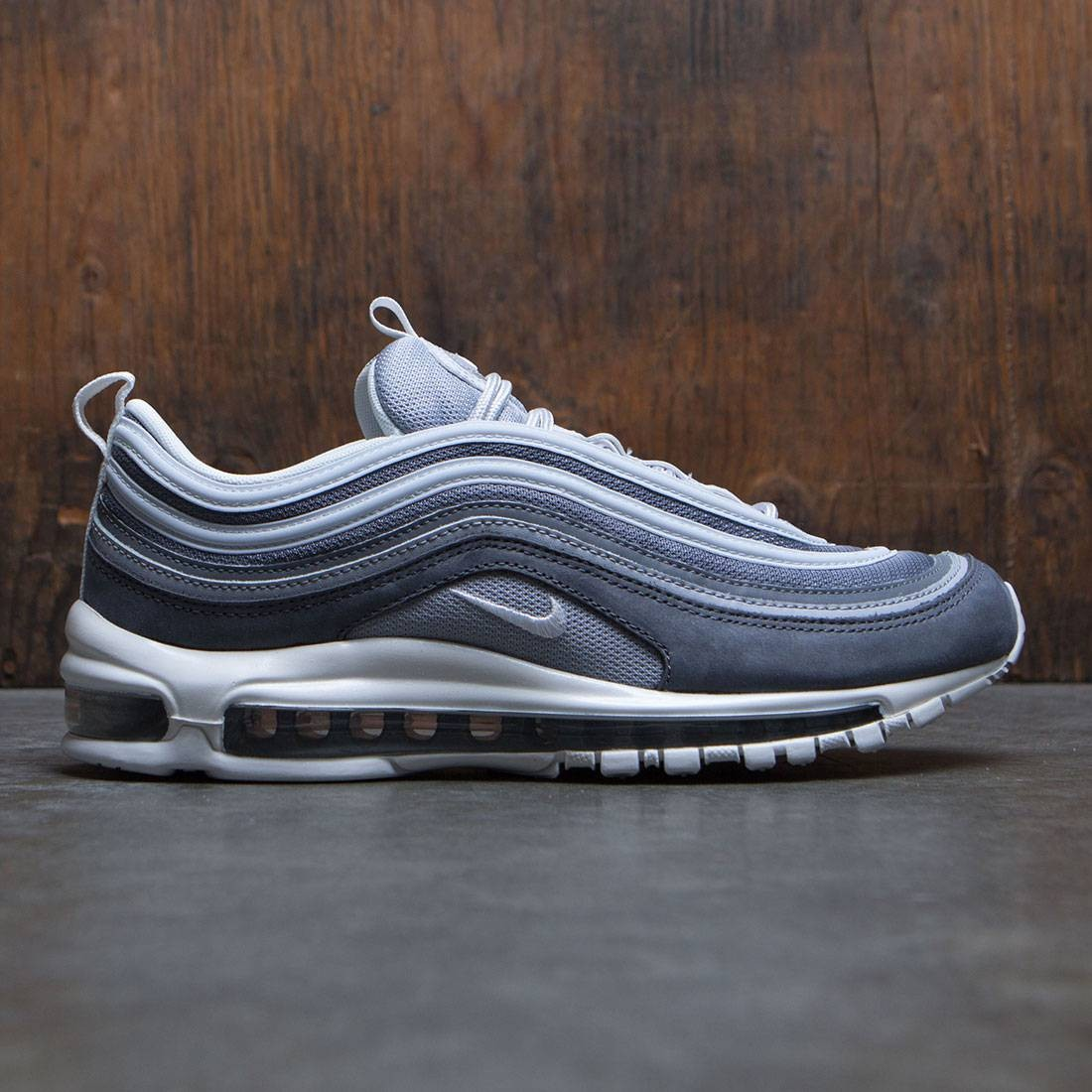 los angeles 3648a c60b1 UK true DDMMYYYY Nike Men Air Max 97 Premium QS wolf grey summit white-dark  g ...