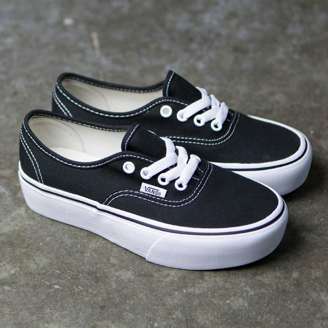 vans authentic platform black