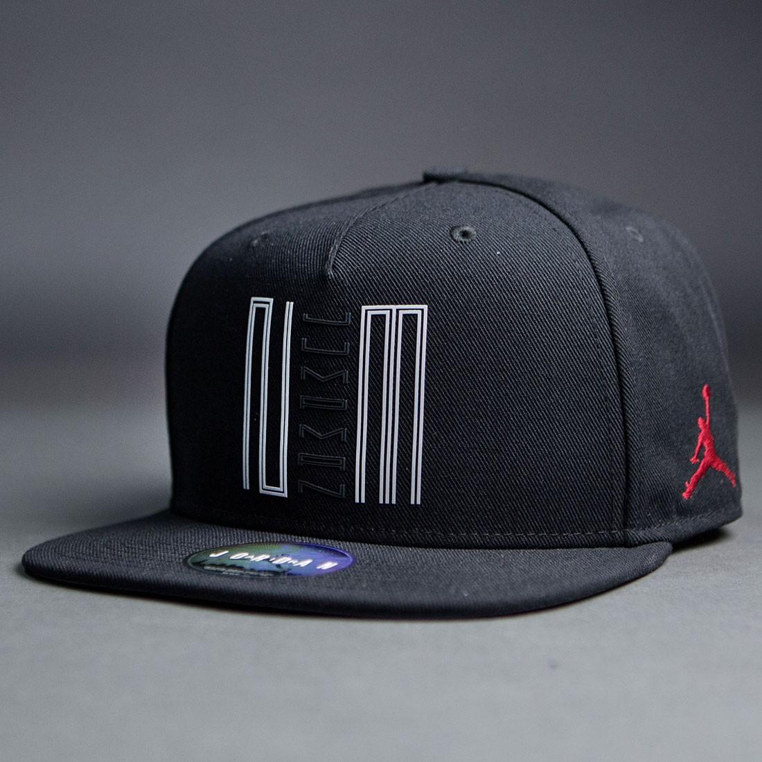 13f6382b735 NIKE JORDAN (Nike Jordan) Cap Jumpman logo print Cap Hat AIR JORDAN STENCIL  SNAPBACK CAP (BLACK GREY black) 707249-010