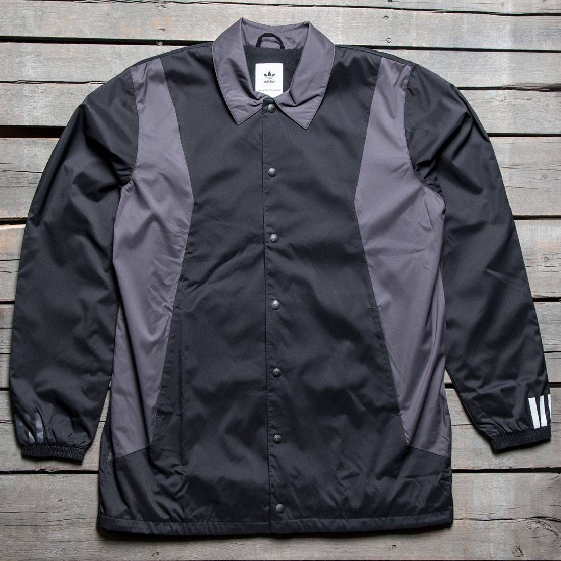 Adidas Men White Mountaineering Long Bench Jacket Black