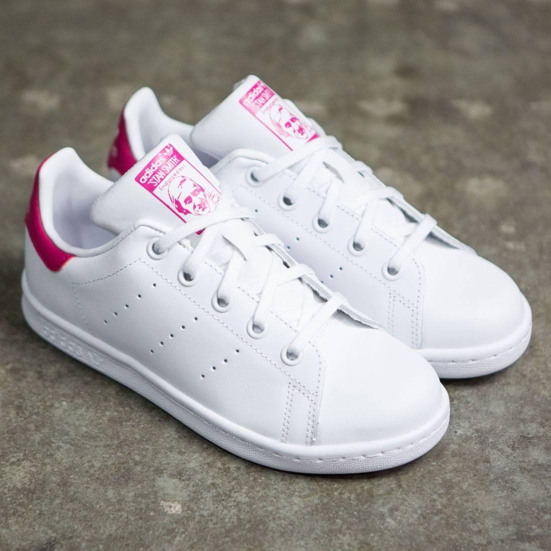 adidas little kids stan smith white footwear white bold pink. Black Bedroom Furniture Sets. Home Design Ideas