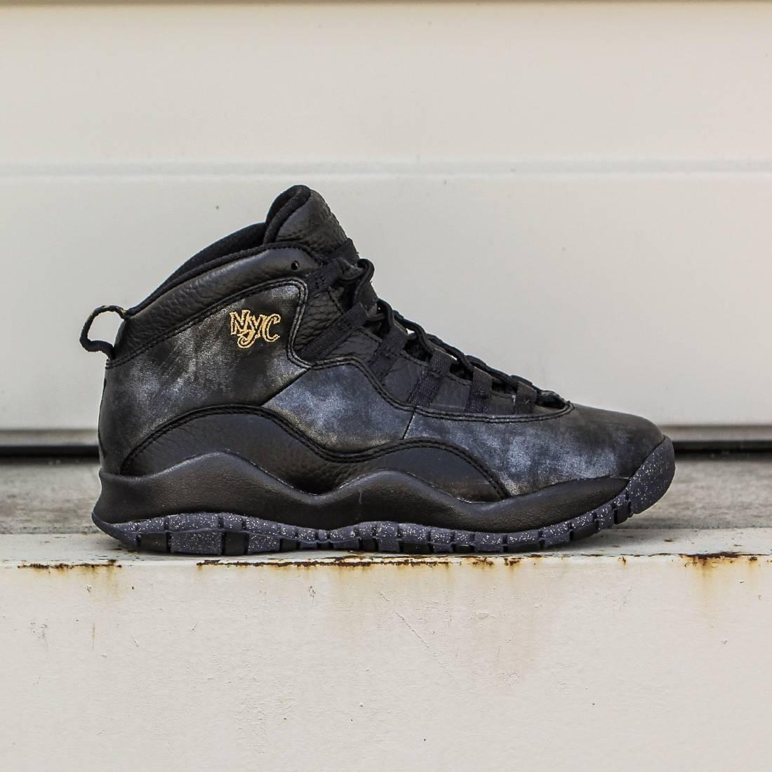 Jordan Big Kids Air Jordan Retro 10 (black dark grey metallic gold black)  ... 60a9491ea