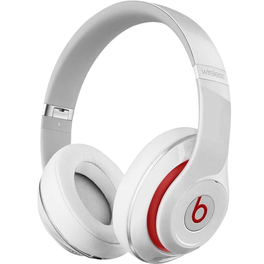 beats by dre studio wireless over ear headphones white. Black Bedroom Furniture Sets. Home Design Ideas