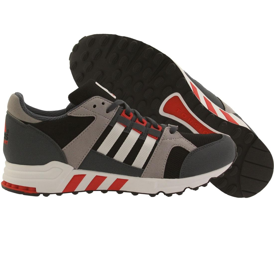 detailed look 91884 4f373 eqt support rf shoes adidas men eqt running cushion 93 (black core black  white red)