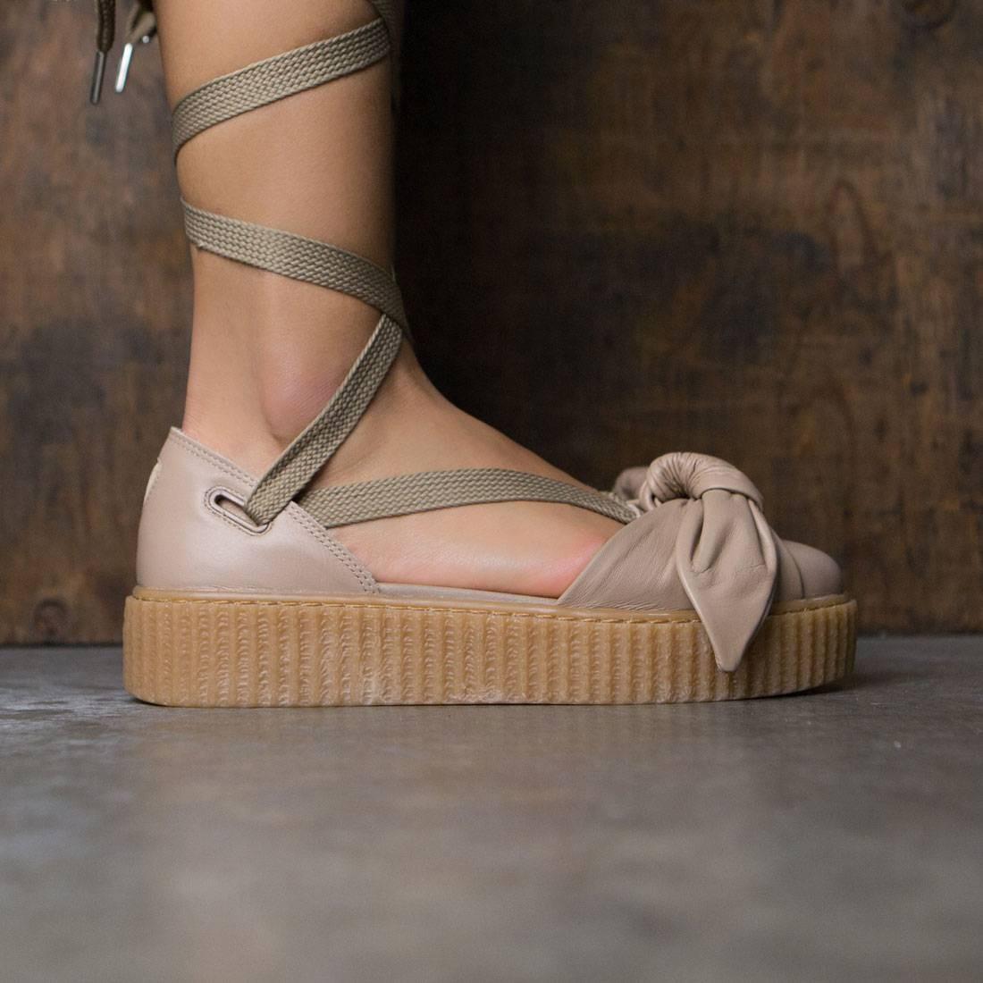 puma x fenty by rihanna women bow creeper sandal natural oatmeal. Black Bedroom Furniture Sets. Home Design Ideas