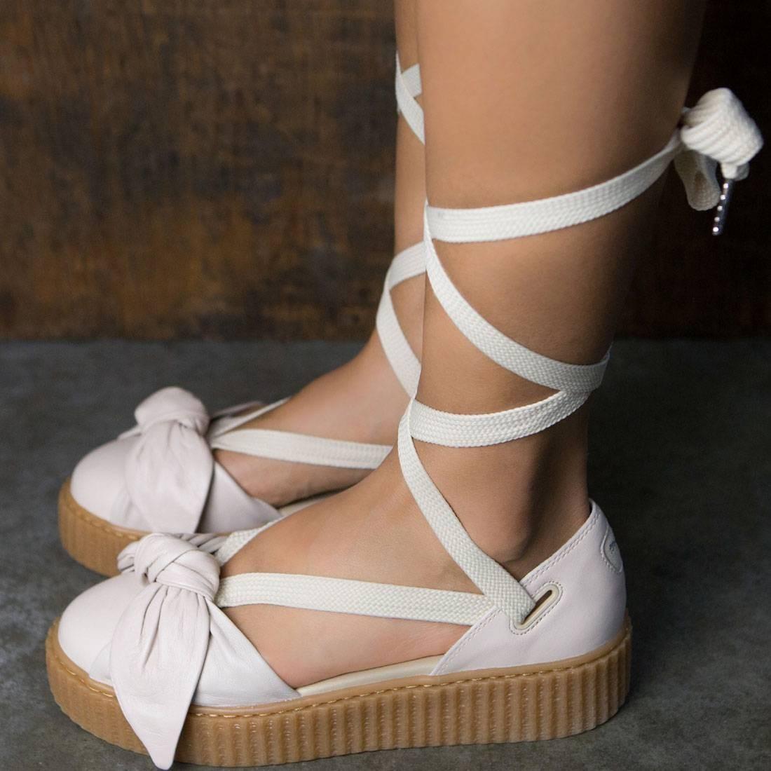 puma x fenty by rihanna women bow creeper sandal pink pink tint oatmeal. Black Bedroom Furniture Sets. Home Design Ideas