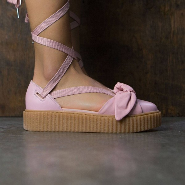 Puma X Fenty By Rihanna Women Bow Creeper Sandal Silver