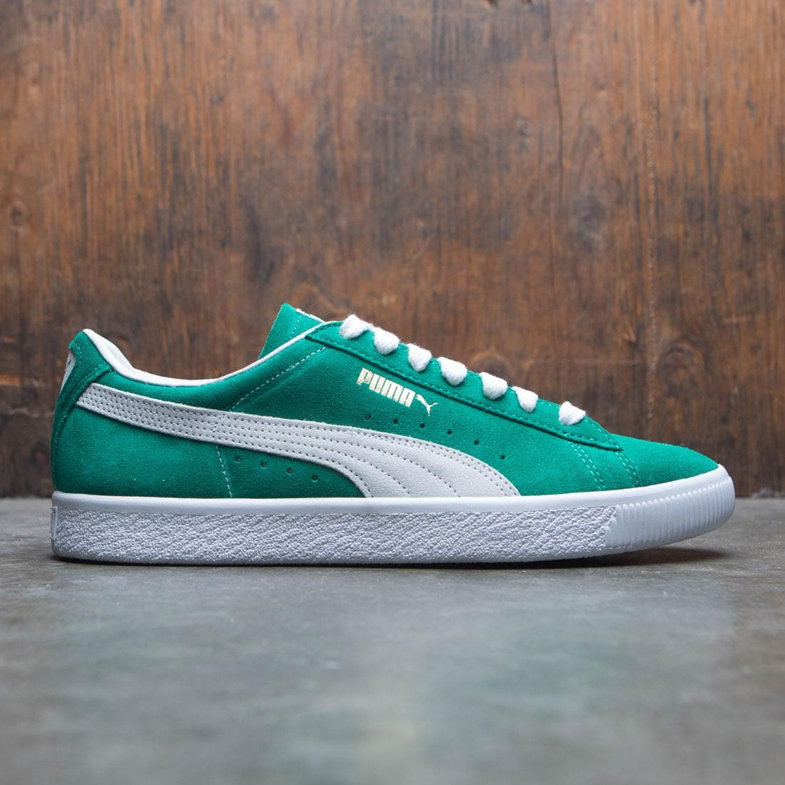 cheap for discount a8eef 6e754 green suede puma sneakers