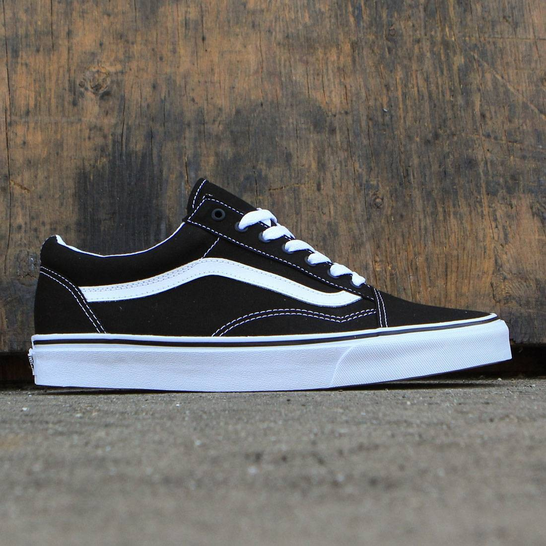 vans men old skool canvas black true white. Black Bedroom Furniture Sets. Home Design Ideas