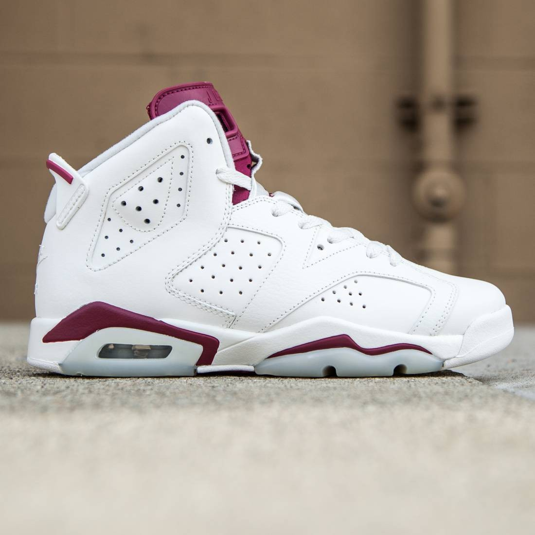 938c631aba4f ... Jordan Big Kids Air Jordan 6 Retro OG BG (white off white new maroon)  ...