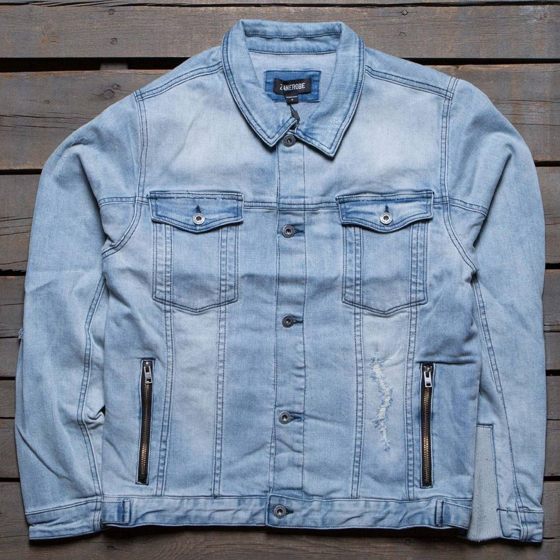 Zanerobe Men Greaser Denim Jacket Blue Denim
