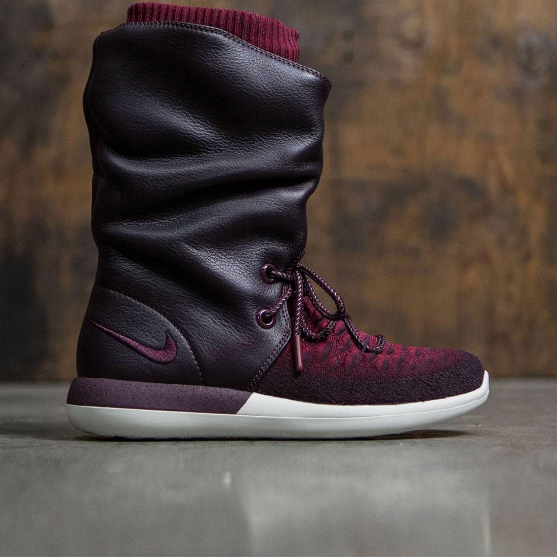 new product 5d90d 88a06 Nike Women Roshe Two Flyknit Hi (deep burgundy deep burgund ...