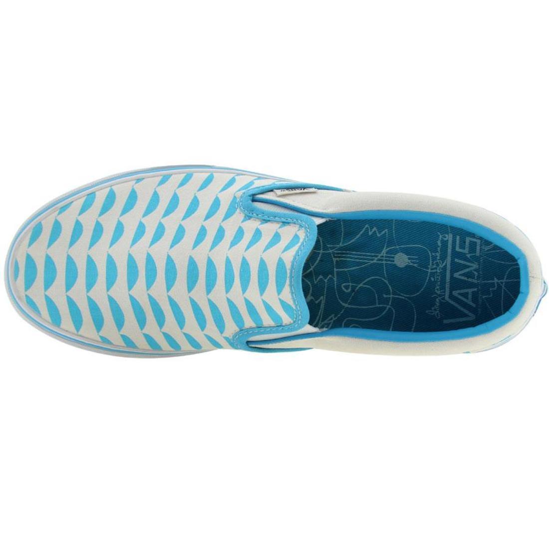 a1c9073eff5449 Vans Classic Slip-On LX - Galinsky Waves (aquarius   t white) 4 4 of 7 ...